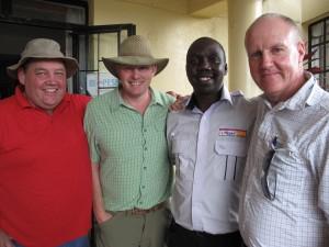 UK farmers on Agri-Tour Kenya 2013: David Jones, Andrew Burgess, with Peter Kamuren and Andrew Brown