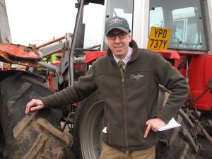 Cheffins Director and Auctioneer Bill Pepper - the man with his finger on the pulse of world tractor trade.