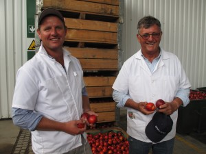 Nectarine farmers Peter and Adrian Woolfardt visited by Green Shoots AgriTour South Africa