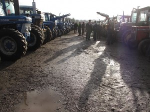 Rows of machinery for sale