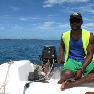Bruce Allen used to work with a tuna fishing fleet in the South Atlantic but now prefers life hosting visitors to Mystery Island