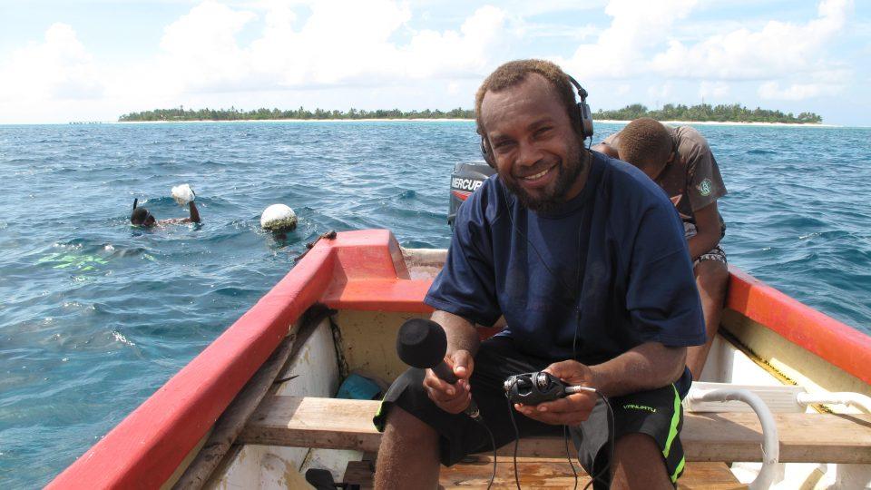 Eddie Cefu interviews for BBC WORLD service AKA Mystery Island
