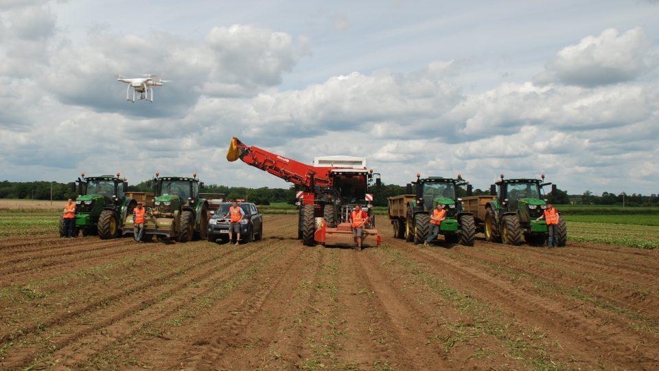 Green Shoots catch the potato harvest team Landermere Farm